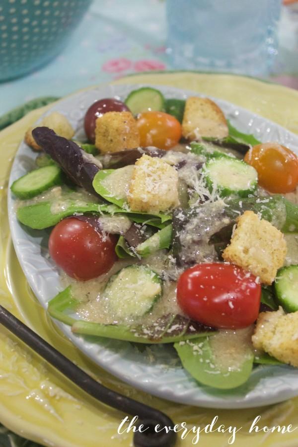 Tuscan Vinaigrette Salad   The Everyday Home