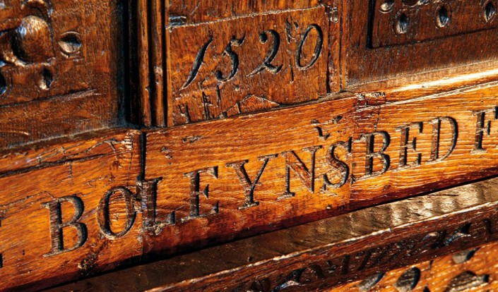 Anne Boleyn's Carved Bed; Hever Castle, England