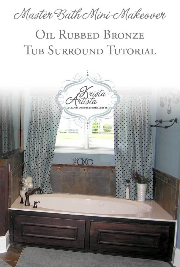 Share It One More Time #22 Oil Rubbed Bronze Master Tub Surround by Krista Arista shared at www.onemoretimeevents.com