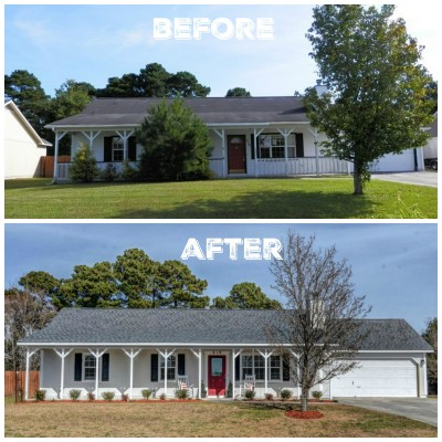 Before After Exterior Flip House Reveal The Everyday Home