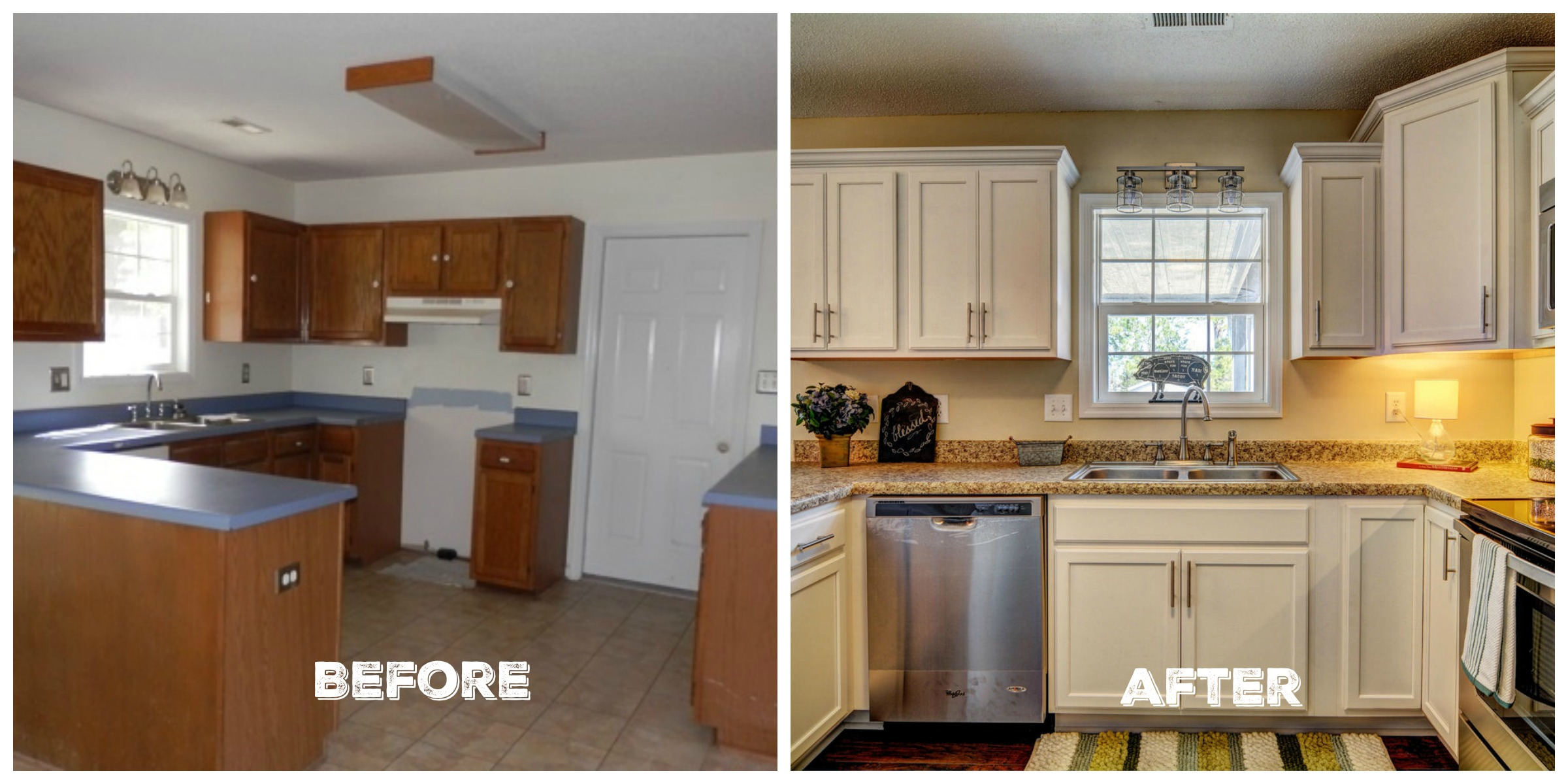 Fixer upper home kitchen - Before After Kitchen Flip House Reveal The Everyday Home