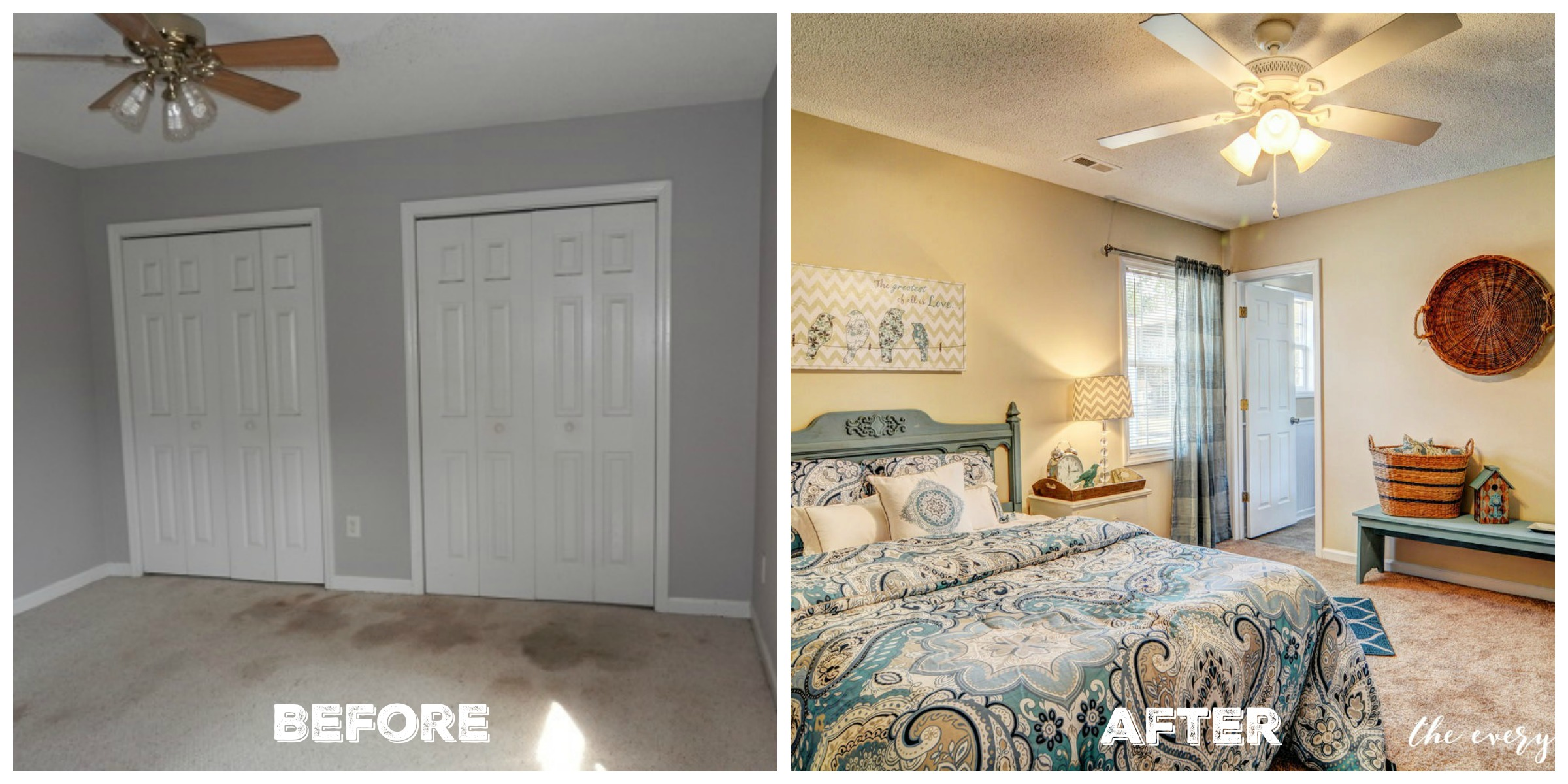 Before After Master Bedroom Flip House Reveal The