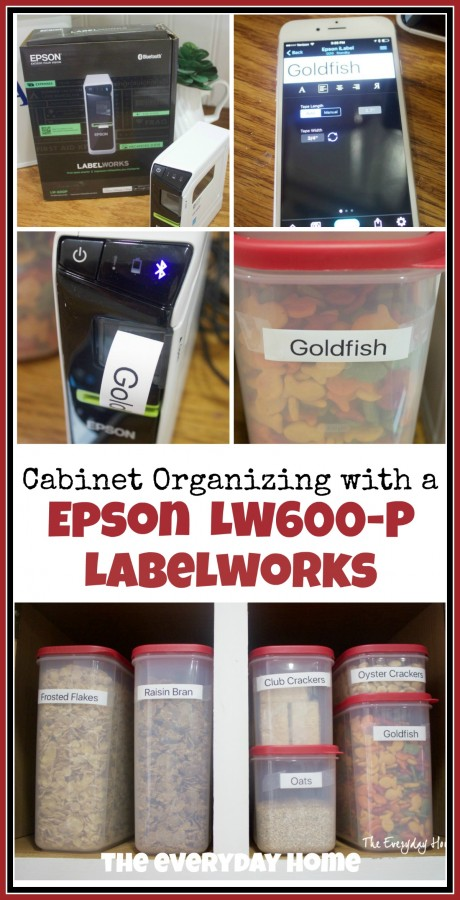 Cabinet Organzing with an Epson Label Maker | The Everyday Home