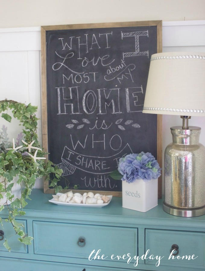 Home Chalkboard Quote | The Everyday Home