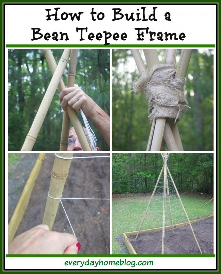 How to Build a Bean Teepee Frame