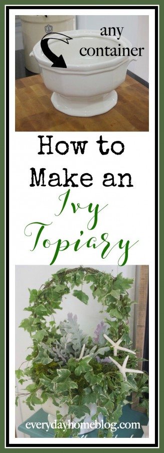 How to Make an Ivy Topiary | The Everyday Home