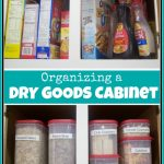Organizing a Dry Goods Cabinet