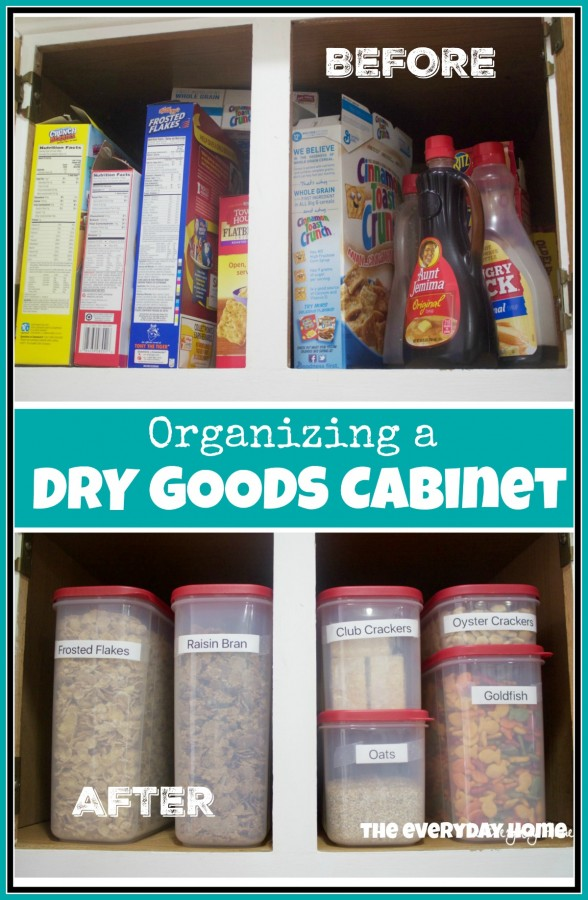 Organizing a Dry Goods Cabinet | The Everyday Home