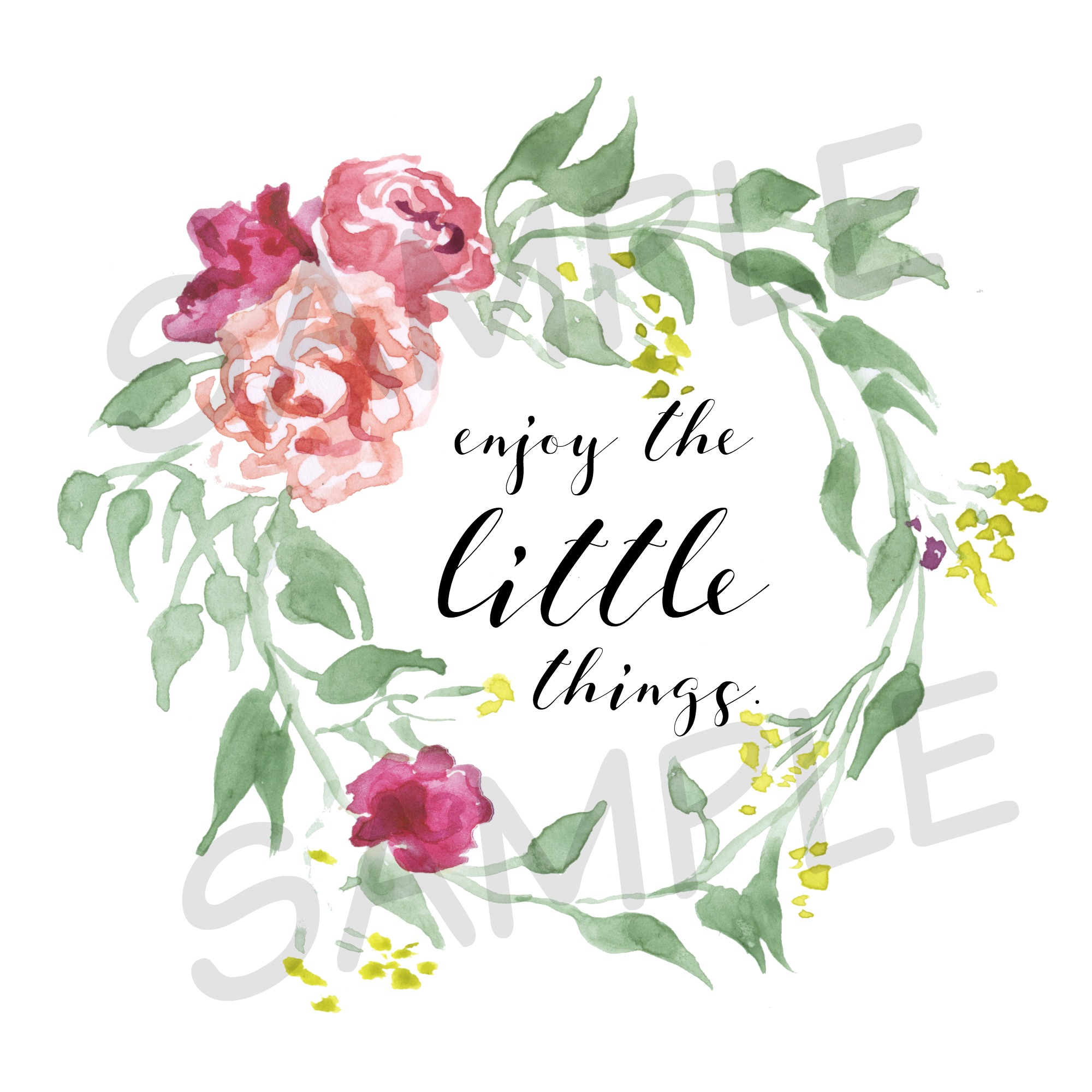 enjoy the little things sample