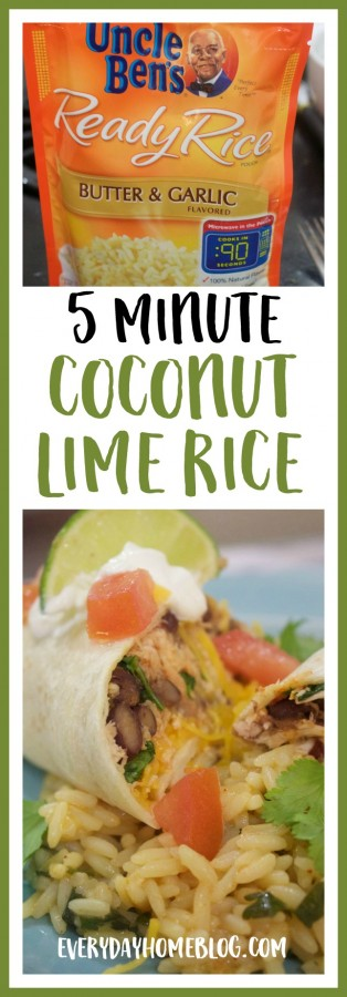 5 Minute Coconut Lime Rice | The Everyday Home
