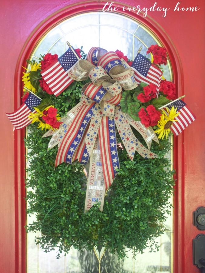Americana Boxwood Wreath | The Everyday Home