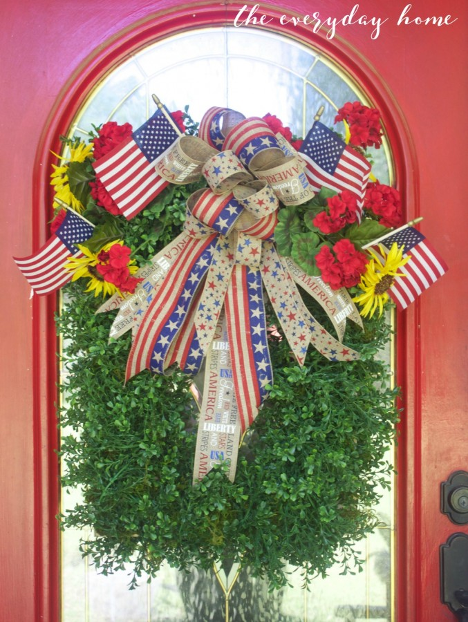 Americana Boxwood Wreath   The Everyday Home