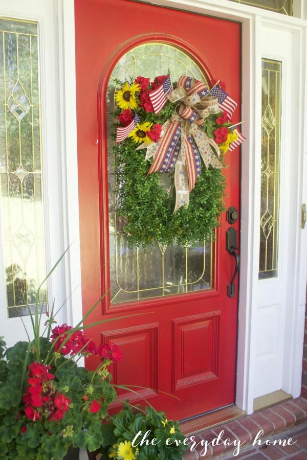 patriotic wreaths for front doorEasy Patriotic Wreath