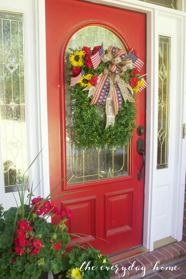 Americana Front Door | The Everyday Home