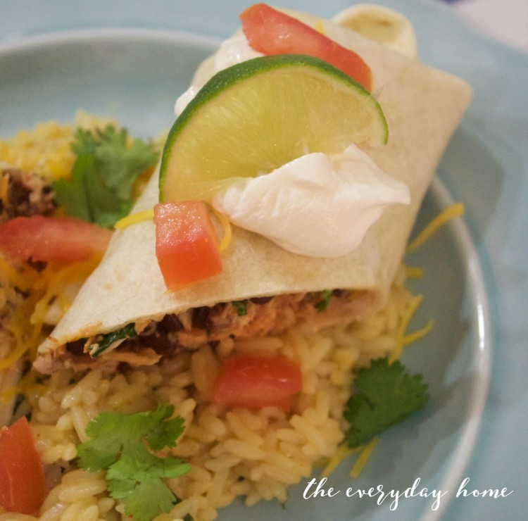 Black Bean & Chicken Burritos | The Everyday Home Blog