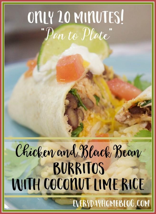 Black Bean & Chicken Burritos |The Everyday Home Blog