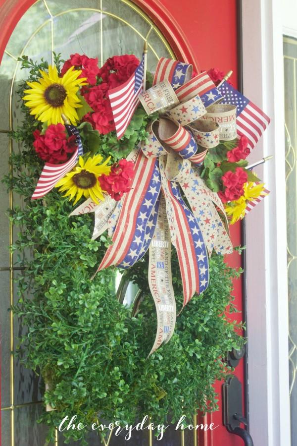 Boxwood Patriotic Wreath   The Everyday Home