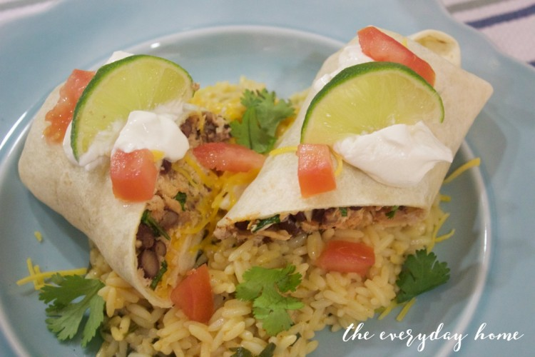 Burritos with Coconut-Lime Rice | The Everyday Home