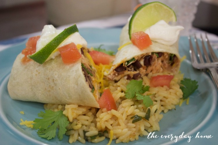 Chicken and Black Bean Burritos | The Everyday Home