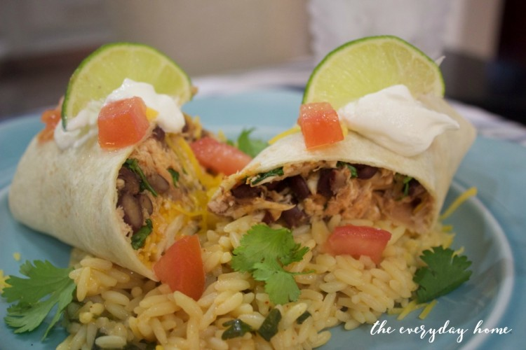 Chicken and Black Bean Burritos | The Everyday Home Blog