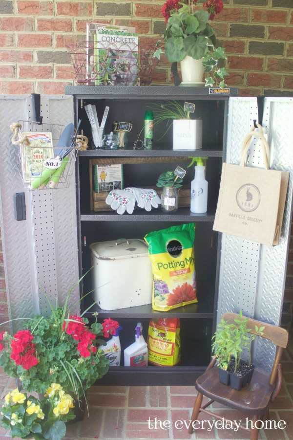 Garden Storage Cabinet | The Everyday Home Blog