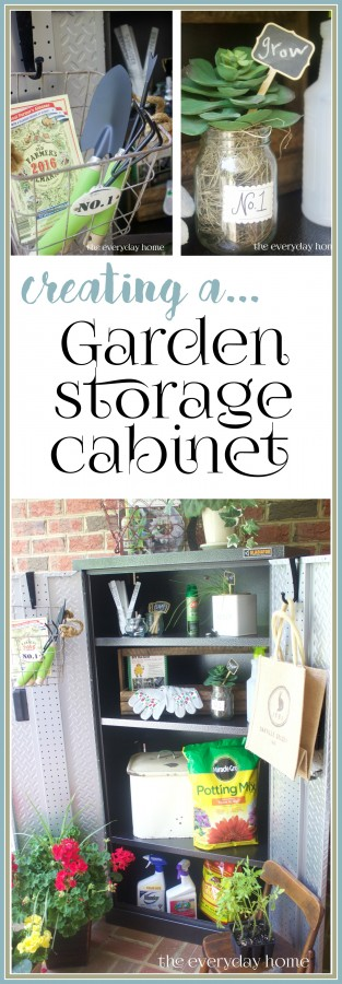Creating a Garden Storage Cabinet | The Everyday Home