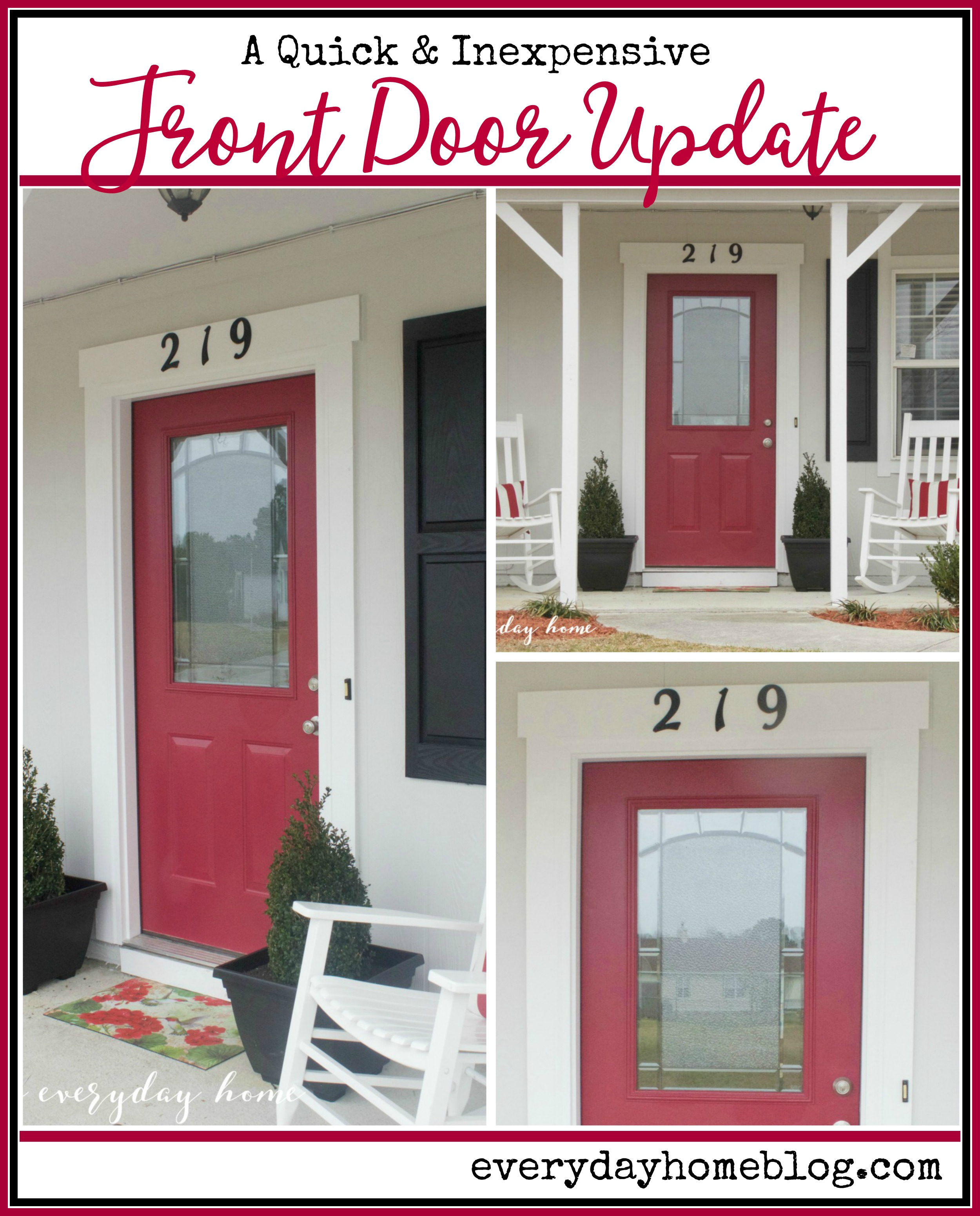 How To Easily Update Your Front Door The Everyday Home
