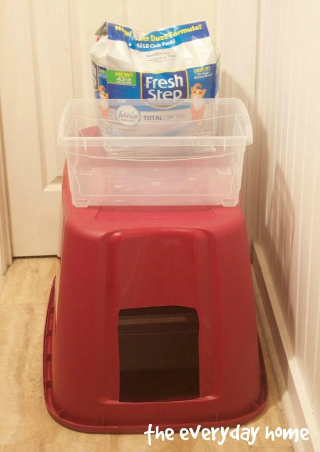 DIY No Less Kitter Litter Box | www.everydayhomeblog.com