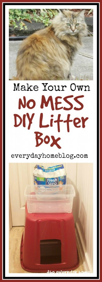 DIY No Mess Litter Box | www.everydayhomeblog.com