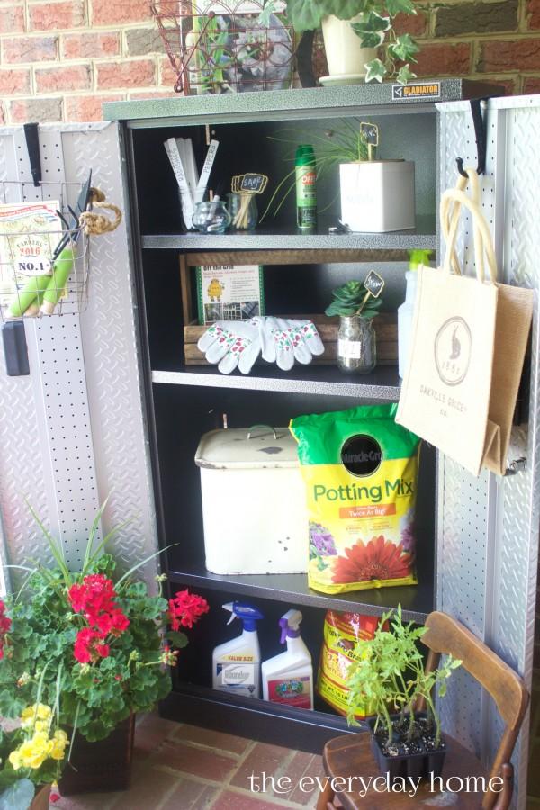 Garden Storage Cabinet | The Everyday Home Blog