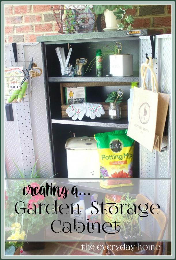 Creating a Garden Storage Cabinet | www.everydayhomeblog.com