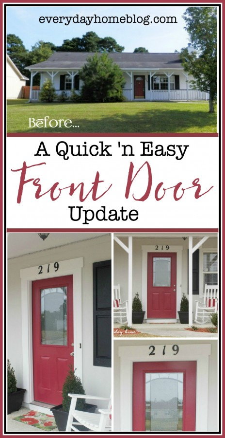 How to Easily Update Your Front Door | The Everyday Home