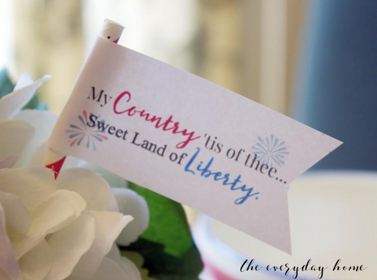 Liberty Mini Flag   The Everyday Home