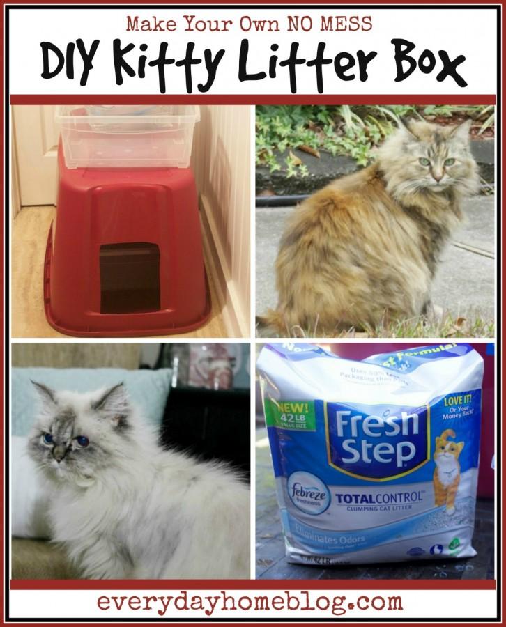 Make Your Own No Mess DIY Kitty Litter Box | www.everydayhomeblog.com