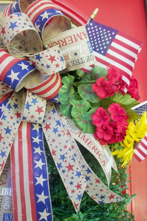 Patriotic Americana Wreath   The Everyday Home