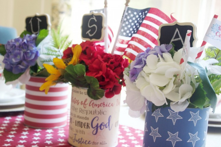 Patriotic Cans | The Everyday Home