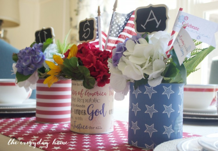 Patriotic Flower Can   The Everyday Home Blog