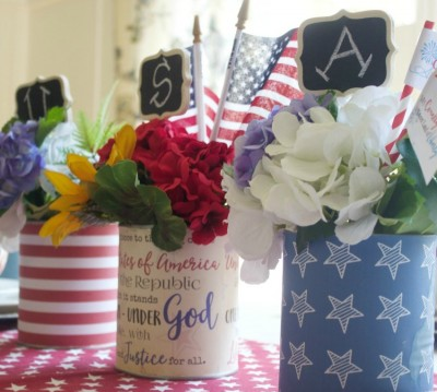 Patriotic Tin Can Craft