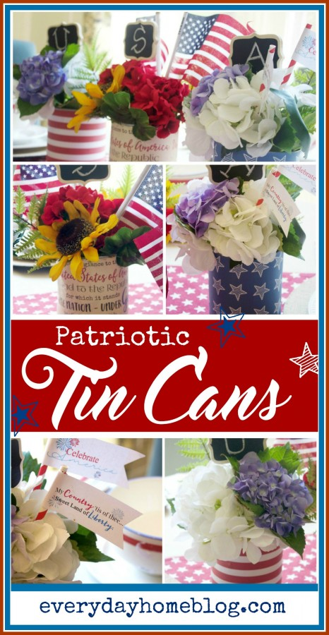 Patriotic Tin Can Craft   The Everyday Home