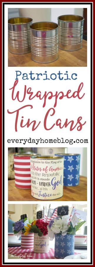 Patriotic Wrapped Tin Cans   The Everyday Home
