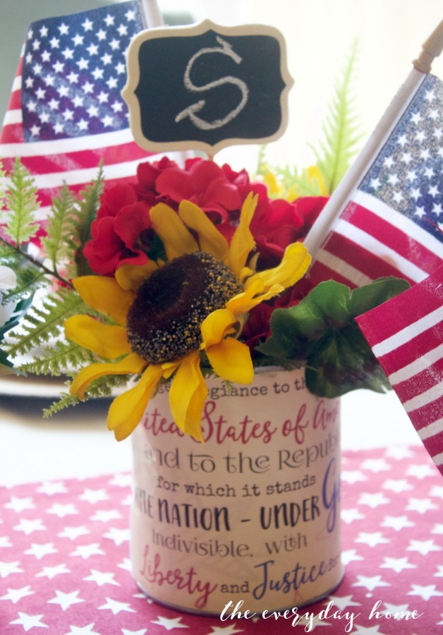 Pledge of Allegiance Patriotic Can | The Everyday Home