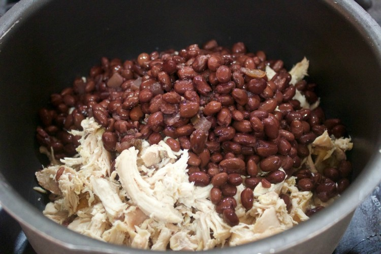 Shredded Chicken and Black Beans