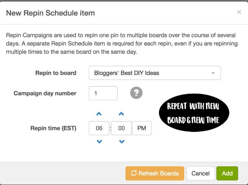 schedule repeat