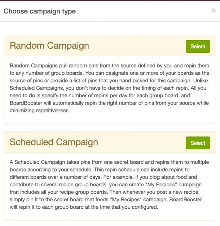 two campaigns