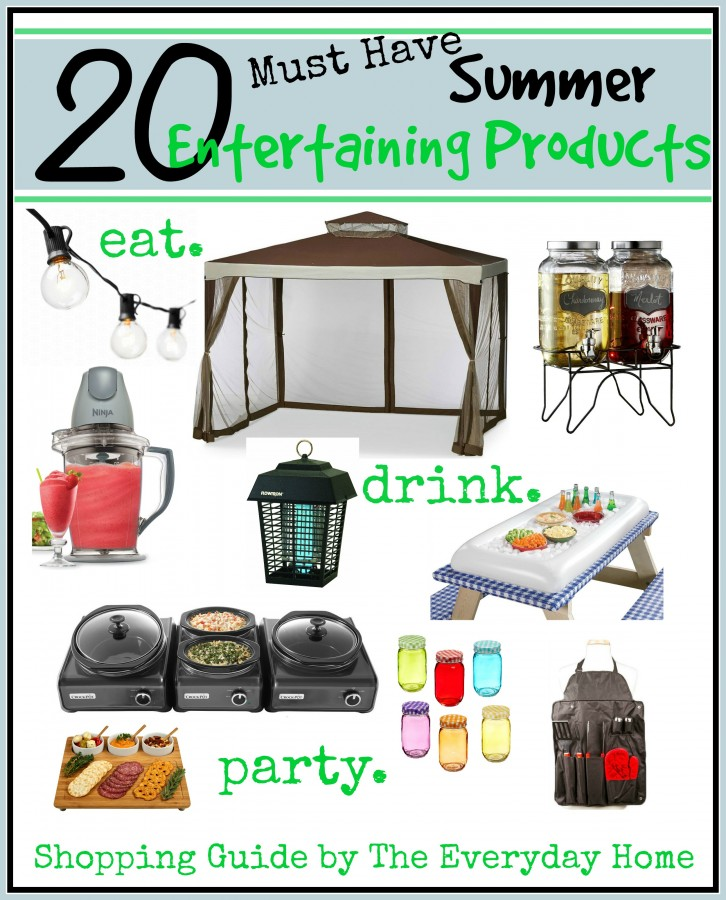 20 Must Have Summer Entertaining Products | everydayhomeblog.com