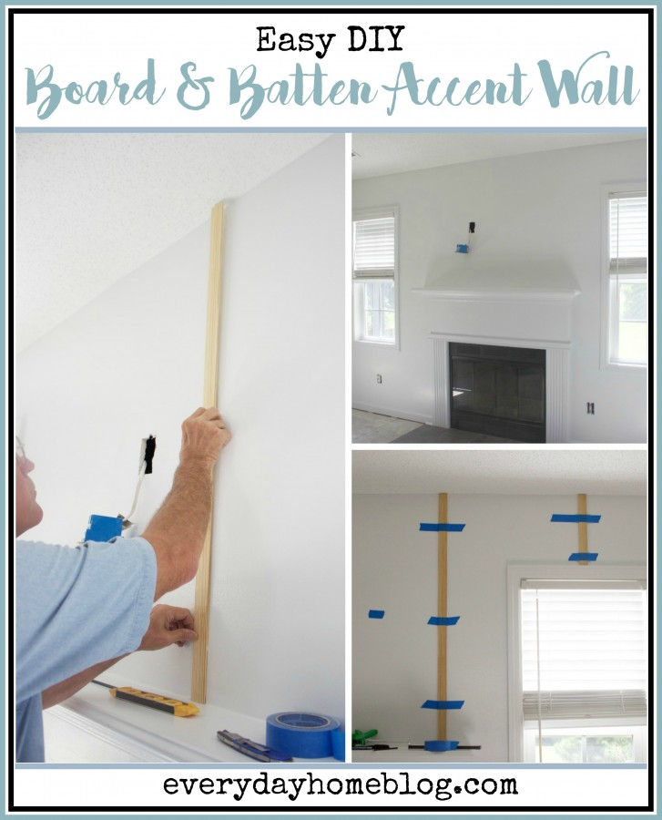 DIY Board and Batten Accent Wall | The Everyday Home | www.everydayhomeblog.com