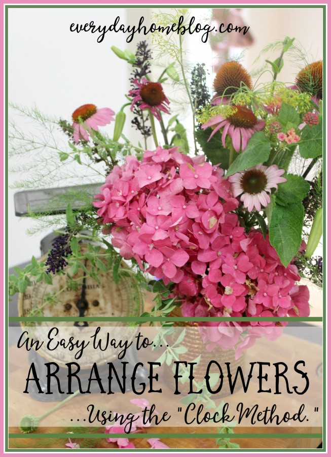 How to Arrange Flowers in a Vase | The Everyday Home | www.everydayhomeblog.com