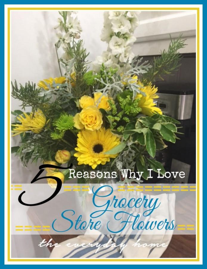 How to Arrange Grocery Store Flowers |The Everyday Home | www.everydayhomeblog.com