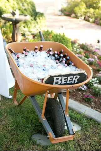 Use a Wheelbarrow for a Cooler