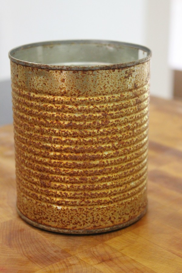 How to Make a Can Rusty Quick | The Everyday Home